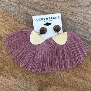 Lucky Brand - Blush Fringe Earrings (Gold) Earring